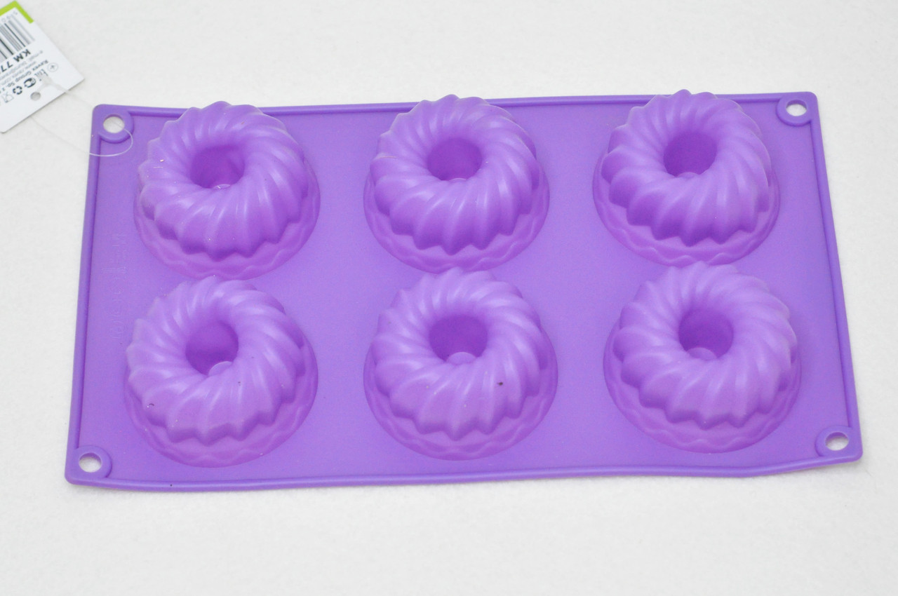 """Силиконовая форма для выпечки фиолетовая Kamille """"Mini Cake"""" KM-7728"""