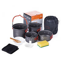 Набор посуды Naturehike 2-3 NH Updated (2 каструлі+ кришки) NH18T018-G серый (NH)