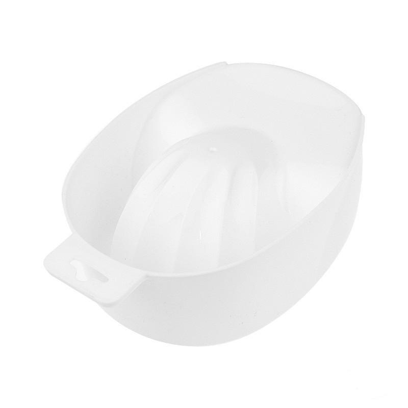 Ванночка для маникюра пластиковая, цвет белый