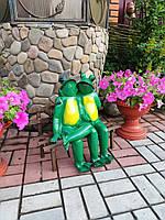 """Садовая фигура """"Лягушки влюблённые"""". декоративная  садовая фигура."""