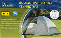 Кемпинговая 7-местная палатка LANYU LY-1914, 1 комната, 1 вход полусфера 6 кг