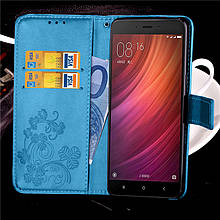 Чехол Clover для Xiaomi Redmi Note 4 / Note 4 Pro книжка Blue женский