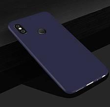 Чехол Style для Xiaomi Redmi Note 6 Pro Бампер силиконовый синий