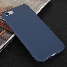 Чехол Style для Iphone 5 / 5s бампер силиконовый синий