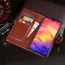 """Чехол Idewei для Xiaomi Redmi 7 (6.26"""") книжка кожа PU коричневый"""
