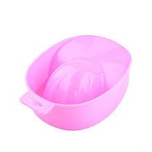 Ванночка для маникюра пластиковая, цвет розовый