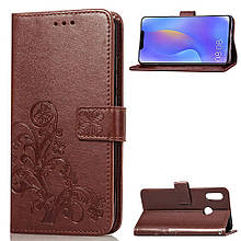 Чехол Clover для Huawei P Smart Plus / Nova 3i / INE-LX1 книжка кожа PU коричневый