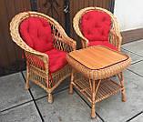 """2 крісла """"Звичайні"""" з мякушками №11 і квадратний столик """"Гриб з плитою"""", фото 4"""