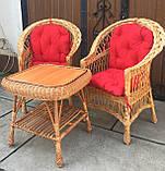"""2 крісла """"Звичайні"""" з мякушками №11 і квадратний столик """"Гриб з плитою"""", фото 3"""