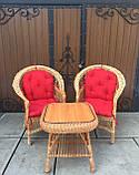"""2 крісла """"Звичайні"""" з мякушками №11 і квадратний столик """"Гриб з плитою"""", фото 6"""
