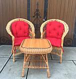 """2 крісла """"Звичайні"""" з мякушками №11 і квадратний столик """"Гриб з плитою"""", фото 8"""