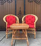 """2 крісла """"Звичайні"""" з мякушками №11 і квадратний столик """"Гриб з плитою"""", фото 7"""