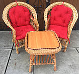 """2 крісла """"Звичайні"""" з мякушками №11 і квадратний столик """"Гриб з плитою"""", фото 9"""