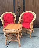 """2 крісла """"Звичайні"""" з мякушками №11 і квадратний столик """"Гриб з плитою"""", фото 2"""