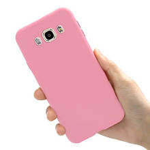 Чехол Style для Samsung J5 2016 / J510 Бампер силиконовый розовый