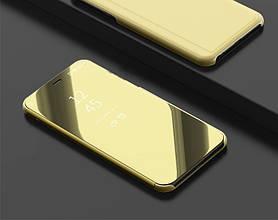 """Чехол Mirror для Honor 7C / AUM-L41 5.7"""" книжка зеркальная Gold"""