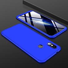Чехол GKK 360 для Xiaomi Redmi Note 6 Pro бампер оригинальный Blue