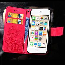Чехол Clover для iPhone 5 / 5s / SE Книжка кожа PU Pink