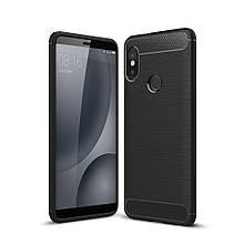 Чехол Carbon для Xiaomi Mi Max 3 бампер черный