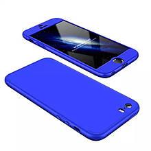 Чехол GKK 360 для Iphone 5 / 5s / SE Бампер оригинальный Blue без выреза