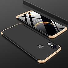 Чехол GKK 360 для Xiaomi Redmi Note 6 Pro бампер оригинальный Black-Gold