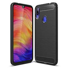 Чехол Carbon для Xiaomi Redmi 7 бампер оригинальный Black