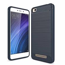 Чехол Carbon для Xiaomi Redmi 4A бампер Blue