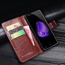 Чехол Idewei для Homtom HT50 / HT50 Pro книжка кожа PU коричневый