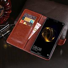Чехол Idewei для Huawei P Smart Plus / Nova 3i / INE-LX1 книжка кожа PU коричневый