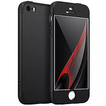 Чехол GKK 360 для Iphone 5 / 5s / SE Бампер оригинальный Black без выреза