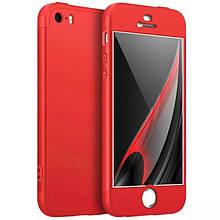 Чехол GKK 360 для Iphone 5 / 5s / SE Бампер оригинальный Red без выреза