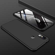 Чехол GKK 360 для Xiaomi Redmi Note 6 Pro бампер оригинальный Black