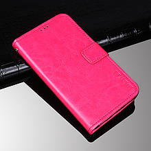 Чехол Idewei для Xiaomi Mi A2 Lite / Redmi 6 Pro книжка кожа PU малиновый