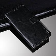 Чехол Idewei для Samsung Galaxy A8 Plus 2018 / A730F книжка кожа PU черный