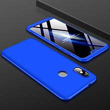 Чехол GKK 360 для Xiaomi Mi A2 Lite / Redmi 6 Pro бампер оригинальный Blue
