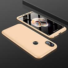 Чехол GKK 360 для Xiaomi Redmi Note 6 Pro бампер оригинальный Gold