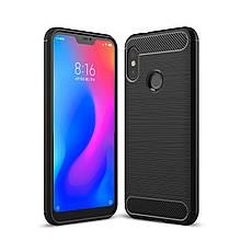 Чехол Carbon для Xiaomi Mi A2 Lite / Redmi 6 Pro Бампер Черный