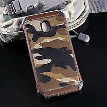 Чехол Military для Samsung J3 2017 / J330 бампер оригинальный Brown