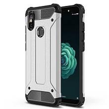 Чехол Guard для Xiaomi Redmi Note 6 Pro бампер оригинальный Immortal Silver