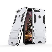 "Чохол Iron для Honor 7C Pro (5.99"") броньований Бампер Броня Silver"