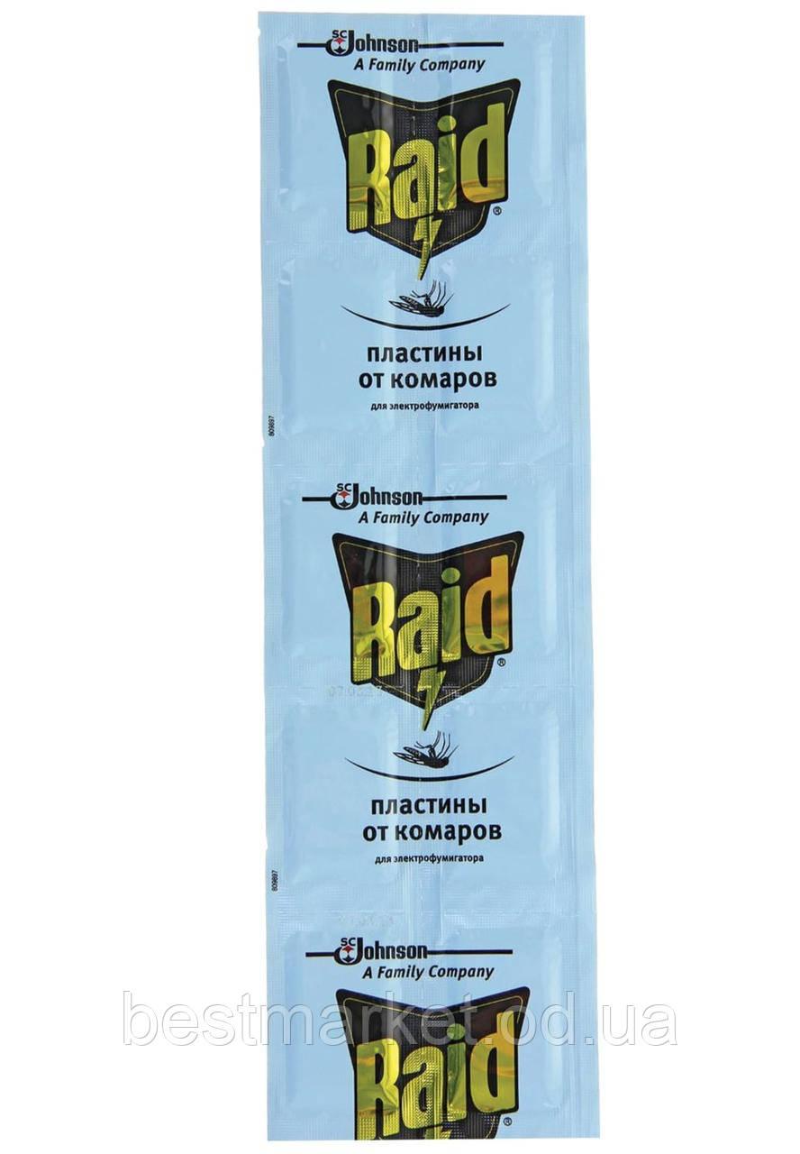 Пластини для Фумігатора від Комарів Raid в Упаковці 10 штук