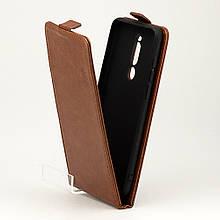Чохол Idewei для Meizu Note 8 / M822H / M822Q фліп вертикальний шкіра PU коричневий