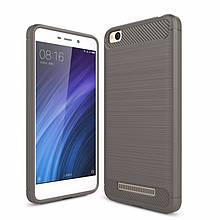 Чехол Carbon для Xiaomi Redmi 4A бампер Gray