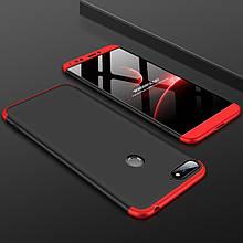 "Чехол GKK 360 для Honor 7C / AUM-L41 (5.7"") бампер оригинальный Black-Red"