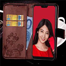 Чехол Clover для Xiaomi Mi A2 Lite / Redmi 6 Pro книжка кожа PU коричневый