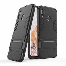 Чехол Iron для Huawei P Smart Plus / Nova 3i / INE-LX1 бронированный Бампер Броня Black