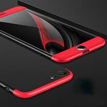 Чехол GKK 360 для Iphone 6 Plus / 6s Plus Бампер оригинальный без выреза black+red