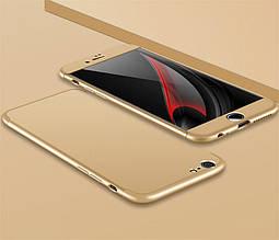 Чехол GKK 360 для Iphone 6 Plus / 6s Plus Бампер оригинальный без выреза Gold