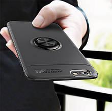 Чехол TPU Ring для Iphone 6 Plus / 6s Plus оригинальный бампер с кольцом Black