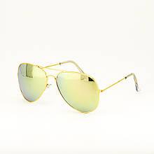 Очки TOP Aviator капли солнцезащитные Green Gold G